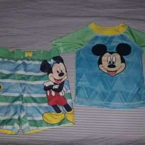 Toddler boy Mickey Mouse swim suit